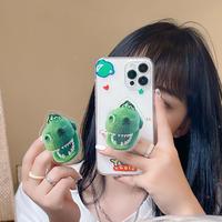 恐竜スマホグリップ付 iphone11/12promaxケース  dinosaur透明アイフォンSE2/xsカバー  スタンド機能付 可愛い 面白いM707