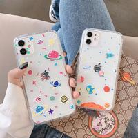 宇宙iphone12proケース 星空iphone12/11ProMaxカバー クリアシンプルアイフォンSE2ケース 透明感 可愛い人気携帯保護ケースM99