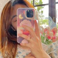おしゃれ雲柄 iphone12/11proケース キラキラ鏡面 光るiphoneSE2/XS/8カバー  お揃い  超ファッション M665