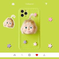 ゲームキャラクターMartha iphone11/SE2ケース  可愛い女の子 アイフォン12/XSカバー  スタンド機能付 ヘアスタイルアレンジ M262