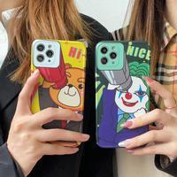 面白いクマ joker iphone12/11promaxケース  カメラカバー iphoneXS/SE2カバー  個性頑丈 お揃いケースM426