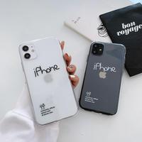 クリアiphone12promaxカバー 透明シンプル風iphone11promax/xsmaxケース 可愛い文字 ファッション instagram人気スマホケースM146