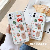 クリスマスプレゼント iphone12promaxケース サンタクロース クリアアイフォン11/xs/8プラスカバー クリスマスツリー かわいいM143