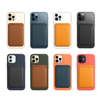 マグセーフMagSafe レザーウォレット iPhone12/mini/pro/promax Suica/PASMO ICカード収納 名刺 身分証明書 クレジットカードM136