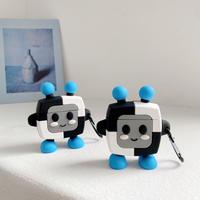 ロボットrobot  airpodsproケース   可愛い エアーポッズカバー   キーホルダー付き 高品質 保護ケース  M506