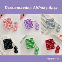 プッシュポップ Airpodsケース バブル感覚減圧 airposdproカバー スクイーズ玩具ストレス解消 リング付きM419