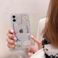 花柄フォトフレーム iphone12/11ケース  写真を挟む 透明アイフォンSE2/XRカバー インスタ映え可愛いオリジナル携帯ケースM415