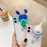 iphone12プロケース トロール人形 スマホケース アイフォン12/11promax/se2ケース 立体感携帯ケース 保護力つよいM114