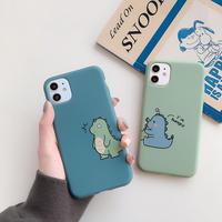 お揃い恐竜 iphone12/11proケース  ペアソフトiphoneSE2/XS/8カバー  頑丈耐久性あり 可愛い人気スマホカバー M549