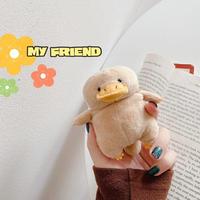 アヒル ぬいぐるみairpodsケース Brown duck airpodsproカバー 可愛い動物デザインM221