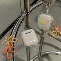 flower airpodsproケース  可愛い花柄 透明 airpodsカバー  高品質  ツヤ感あり  持ちやすい  M599