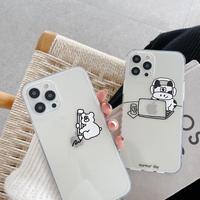 お揃い透明iphone11/12ケース 乳牛 iphoneSE2/XSカバー  可愛い牛柄クリア携帯ケースM385