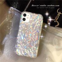 アルミ箔 銀紙iphone12proケース しわ模様iphone12mini/11promaxケース オーロラ光る 個性携帯ケースiphone12 シンプル風スマホケースM107