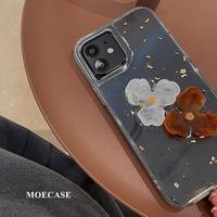 立体花 iphone13/13proカバー ラメ入り綺麗 iphone12pro/11proケース  高透明  おしゃれM1117