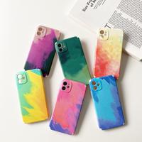水彩色 iphone12/11promaxケース  カラフル水彩画アイフォンSE2/XSMAXカバー 耐久性耐衝撃シンプル風携帯保護ケースM282
