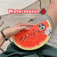 スイカ iphone11/12proケース watermelon iphoneSE2/xrカバー   面白い果物デザイン携帯カバー 個性 頑丈M676