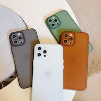 シンプル 無地 iPhone13mini/13promaxケース   半透明 マットタイプ iphone12pro /11カバー  お揃い 耐衝撃M1049