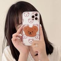 熊グリップ付 iphone12pro/11ケース  Bearクリア iphonexs/se2カバー   かわいい  多機能M932