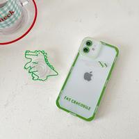 恐竜グリップ付 iphone12/11ケース  dinosaurクリア iphoneXR/8Plusカバー   かわいい  多機能M933