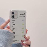 目覚まし时计ミラー iphone12/11proケース  個性 iphonese2/xrカバー  ファッション鏡面 キラキラM979