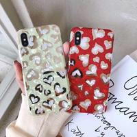 お洒落 ハート柄iphoneXS MAX/XRケース 個性保護ケータイカバー  女子に大人気iphone8 plusカバー