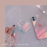 変色透明  iphone11/12promaxケース  紫ピンク色 アイフォンSE2/8plusカバー  キラキラ  綺麗オシャレ ツヤ感ありM399