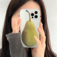 梨柄  iphone11/12proケース ナシ スマホグリップ  iphonexr/se2カバー  果物のクリケース  可愛い便利M628