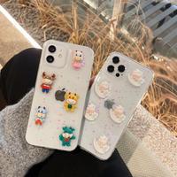 メリーゴーラウンド iphone12/11ケース うし 回転木馬アイフォンXS/SE2カバー 立体 可愛いデコスマホケースM244