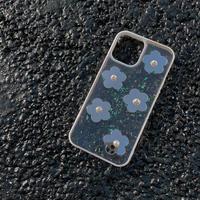 花ミラー  iphone11/12proケース  透明グリッター入り iphonexs/se2カバー  超綺麗 flower  女子に人気M644