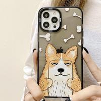 自撮り犬 iphone12/11Promaxケース  面白いdog iphoneSE2/xsmaxカバー  透明感 耐衝撃スマホケース M514