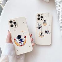 宇宙飛行士 iphone12pro/11ケース  保護力つよいiphoneXS/SE2カバー  軽量持ちやすい 手触りいい頑丈耐久性M421
