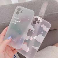 星空 雲 iphone12/11ケース  クリアiphoneSE2/XS/8カバー  手触りいい instagram人気 M490
