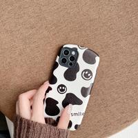 笑顔付 牛柄 iphone13proカバー 保護力強い iphone12pro/11promaxケース  ソフト 手さわりいい 汚れ/指紋防止 M1128