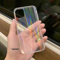光るiphone12promaxケース オーロラ変色iphone12/11proカバー オシャレクリア透明アイフォンXSMAX/SE2ケース  インスタ映え キラキラ綺麗な携帯ケースM95