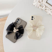 リボン付き iphone12/11ケース 美しいiphoneSE2/XS/8カバー  ツヤ感あり デコケース ファッションガールズに人気 M609
