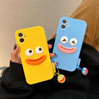 面白い笑顔アイフォンケース iphone11/12カバー お揃いシリコンケース 可愛い携帯カバーM240