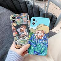 ファン・ゴッホ iphone12/11promaxケース 印象派画家 アイフォンxsmaxカバー 可愛い頑丈スマホケースM257