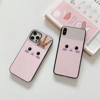 ミラー猫ちゃん  iphone12/11ケース  綺麗鏡面 iphoneSE2/XS/8カバー  キラキラ可愛い  便利 M532