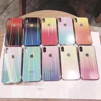 オーロラに光るiphoneXSケース iphone11 proケース グラデーションツヤ感 おしゃれiphone11カバー