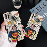 スーパーマン iphone12/11promaxケース 落書きSuperman iphoneXR/XSMAXカバー 可愛いキャラクター 頑丈M234