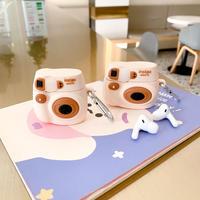 カメラ airpodsproカバー  かわいいエアポッツケース  面白い  フック付き  ファッション  かわいいM886