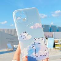 雲クマちゃん  iphone12/11proケース  キュート iphoneSE2/XS/8カバー  綺麗  インスタ人気  手触りいい M548