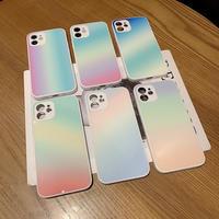 おしゃれグラデーションカラー  iphone11/12promaxケース  ツヤ感 アイフォンXR/XS/SE2カバー  抗菌加工耐熱性 汚れ落ちやすいM482