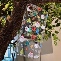 サンタクロース iphone13pro/12promaxケース クリスマスプレゼント 高透明 アイフォン11promax/SE2カバー  お揃い 可愛いギフトM1177
