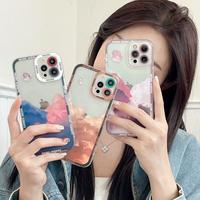 曇り柄 iPhone13pro/13promaxケース  月クリア iphone12 /11promaxカバー   カメラレンズ保護 品質いいM1191