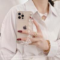 チェーン付透明iphone11/12proケース  クリアiphonexs/se2カバー シンプル風頑丈アイフォン保護カバー M716
