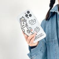 猫柄 持ち手付 iphone12/11proケース  リボンベルト iphoneSE2/XS/8カバー  超キュート便利 instagram人気品 M511