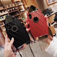 ロケットデザインiphoneXS MAX/XRケース フリンジ付 首にかける紐付 ガールズに超おすすめ
