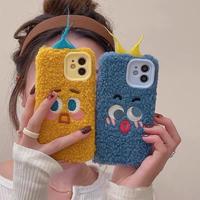 面白い顔 iphone13/13proカバー 毛あり アイフォン12pro/11promaxケース  ギフト  秋冬おすすめM1149