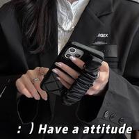 ベルト持ち手付 iphone13/13promaxケース  高品質 iphone12pro/11カバー  可愛い 黒色系 女子力アップ  手さわりいい頑丈M1033